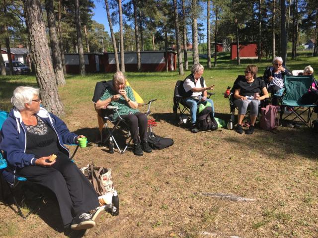 Fikadags: Sylvia, Bitte, Beth och Susanne