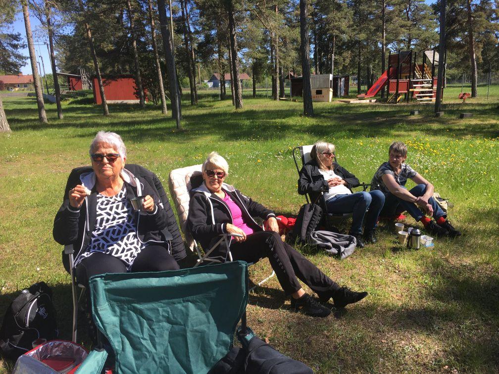 Fikadags: Siw, Birgitta, Ylva och Siv