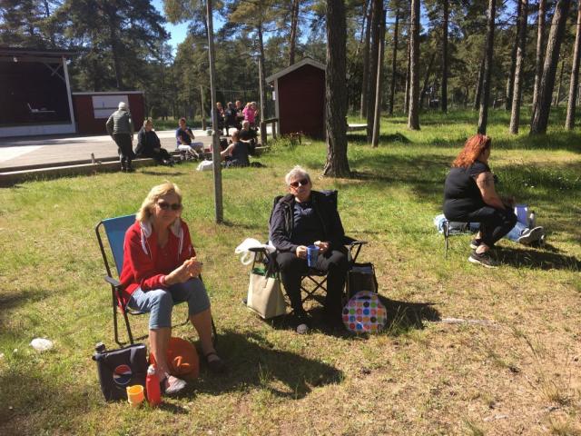 Fikadags: Margaretha, Lena Hallberg och Lena Hansson