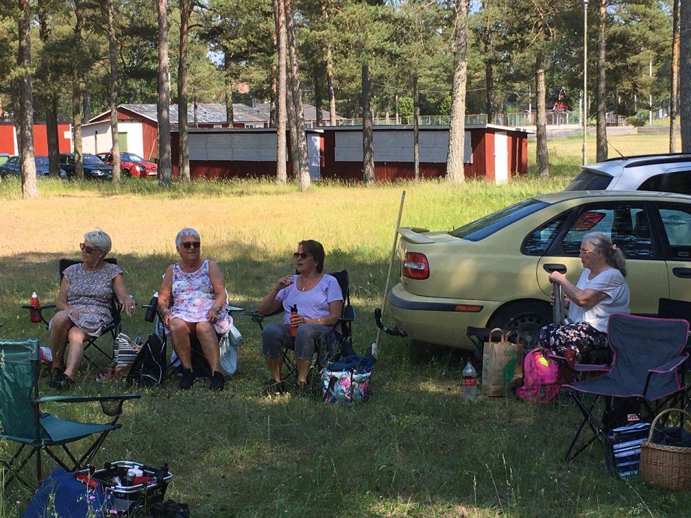 Fikadags: Birgitta, Siw, Susanne och Eva